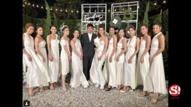 แก้ม กวินตรา ควงแฟน หนุ่ม รชต ฉลองแต่งงานในสวนเรียบง่าย