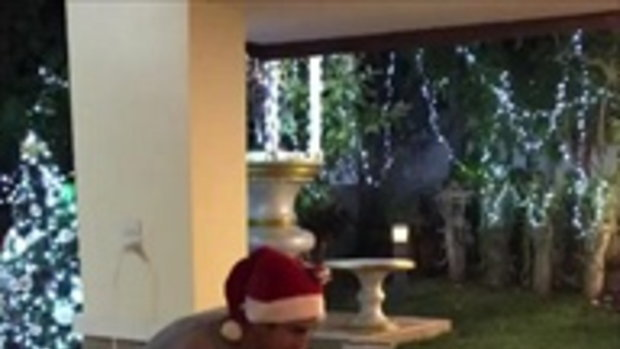 ฉลองคริสต์มาสสไตล์พระเอก ณเดชน์ สนุกสนานที่บ้านขอนแก่น