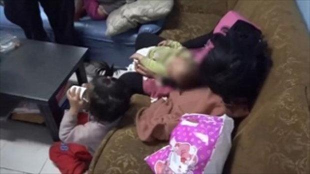สาวจีนหอบลูก 3 คน เดินเท้าจากเมืองจีนมาไทย พักในศาลเจ้า บอกเจ้าแม่กวนอิมสั่งให้ทำ