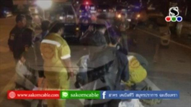Sakorn News : รถเก๋งชนหนุ่มต่างด้าวข้ามถนนเสียชีวิต