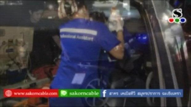 Sakorn News : รถจักรยานยนต์เฉี่ยวชนกันเจ็บ 2 ราย