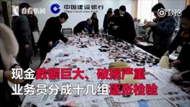 เสียหายเป็นแสน! ชายจีนเก็บเงินสด 2 ล้านไว้ในตู้เย็น แต่โดนไฟไหม้วอด