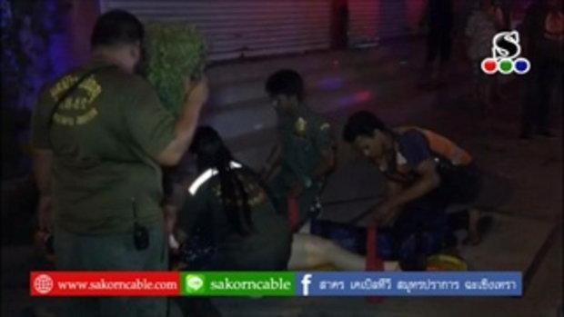 Sakorn News : รถจักรยานยนต์วิ่งย้อนศรชนกันบาดเจ็บ