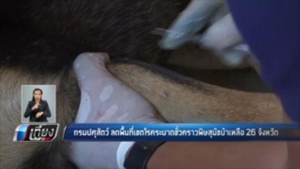 กรมปศุสัตว์ ลดพื้นที่เขตโรคระบาดชั่วคราวพิษสุนัขบ้าเหลือ 26 จังหวัด - เที่ยงทันข่าว