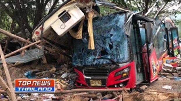 """18ศพแล้ว!! คืบหน้าเหตุรถทัวร์พลิกคว่ำที่ วังน้ำเขียว ผู้รอดชีวิตเผย ก่อนเกิดเหตุได้ยินเสียตะโกน """"รถเ"""