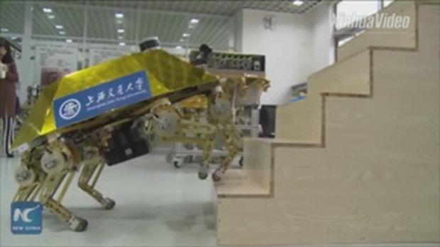 ล้ำไปอีก จีนพัฒนาหุ่นยนต์กู้ภัย ถึกทนลุยได้ทั้งน้ำ-ไฟ