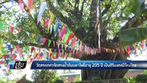 วัดสระเกศฯจัดสรงน้ำต้นมหาโพธิ์อายุ 205 ปี เป็นสิริมงคลปีใหม่ไทย - เข้มข่าวค่ำ