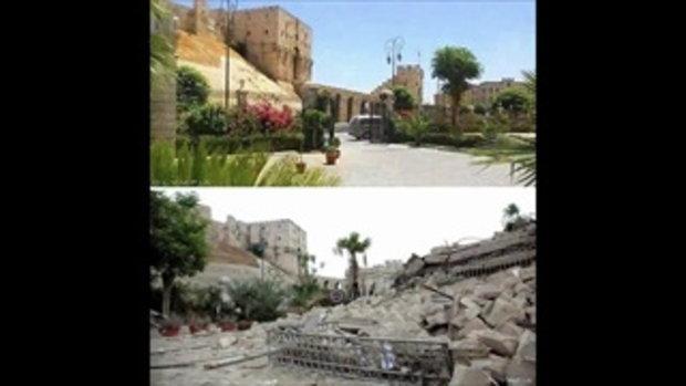 ภาพก่อน-หลังสงครามในประเทศซีเรีย