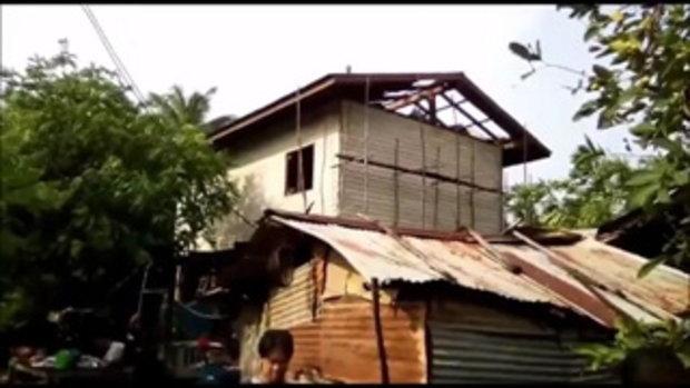 รุนแรงเหลือเกิน !! พายุถล่มพิษณุโลก บ้านพัง หลังคาปลิวว่อน ไฟดับ ต้นไม้ล้มขวางถนน