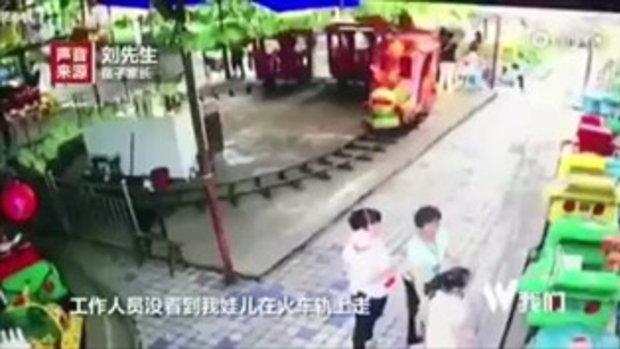 อุทาหรณ์ เด็กชาย 4 ขวบ โดนรถไฟสวนสนุกทับ กะโหลกแตก