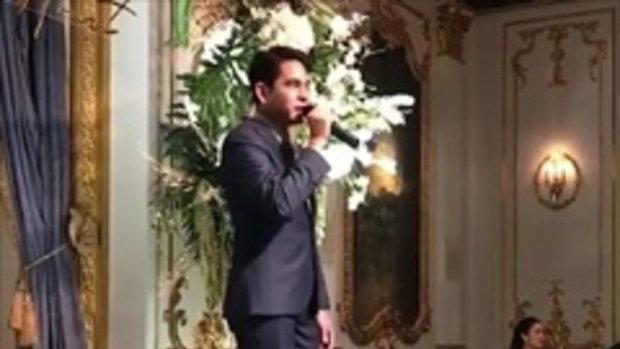 บิ๊ก ศรุต ร้องเพลงในงานแต่งน้องสาว