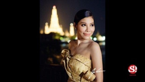 แหวนแหวน ปวริศา กับชุดไทยเลอค่า ประดับเพชรสวารอฟสกี้ ในงานวันเกิด