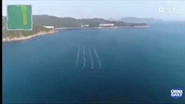 กองเรือไร้คนขับจีน ยกทัพแปรขบวน-ทดสอบความสามารถในไห่หนาน