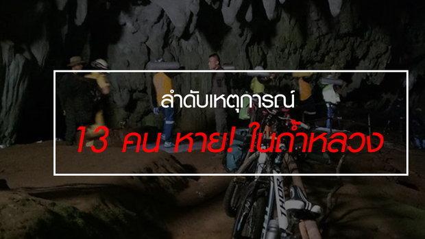 นักฟุตบอลเยาวชน-โค้ช 13 คน หาย! ในถ้ำหลวง จ.เชียงราย ยังหาตัวไม่พบ แต่เชื่อยังมีชีวิตอยู่