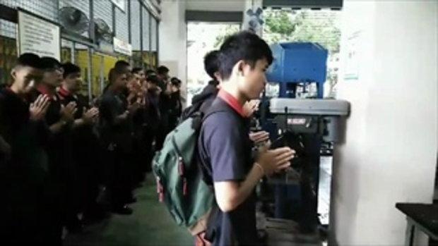 นักศึกษาเชียงใหม่สวดมนต์ ส่งกำลังใจขอให้ทีมหมูป่าปลอดภัย