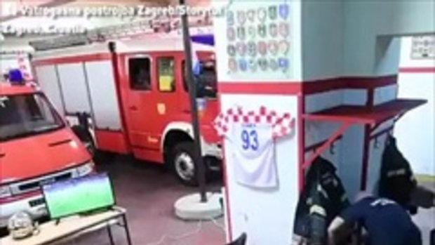 หน้าที่เหนืออื่นใด นักดับเพลิงโครเอเซีย อดดูการดวลจุดโทษกับ รัสเซีย เพราะรีบออกปฎิบัติหน้าที่