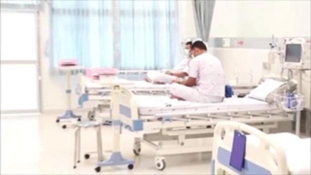 เผยคลิป 'ทีมหมูป่า' ในโรงพยาบาลครั้งแรก ชูสองนิ้ว