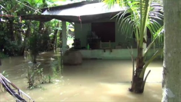 น้ำป่าดอยขุนตานทะลักท่วมสองหมู่บ้าน อ่วมกว่า 30 หลังคาเรือน