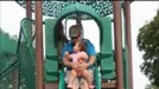 อุทาหรณ์ พ่ออุ้มลูกวัย 14 เดือน เล่นสไลเดอร์ ทำหนูน้อยขาหัก