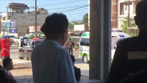 ระทึกยามเช้า หนุ่มคลั่งจับเมียเป็นตัวประกันกลางถนน ยิงขาเจ็บคาเก๋ง