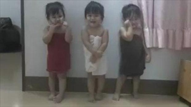 น่ารักอะไรเบอร์นี้!! แฝด3 มาแจกความน่ารักสดใสให้ทุกคน