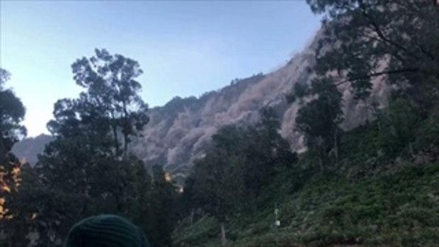 เผยคลิปนาที แผ่นดินไหว เกาะลอมบอก คนไทยหนีระทึก ภูเขาทั้งลูกดินถล่ม