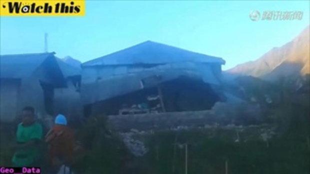 ภาพความเสียหายแผ่นดินไหว 6.4 ใกล้เกาะบาหลี เมื่อเช้านี้ ยืนยันเสียชีวิต 3