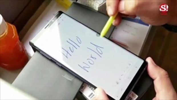 สัมผัสตัวจริง Samsung Galaxy Note 9 หลังการเปิดตัวอย่างเป็นทางการ
