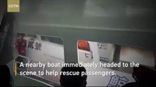 เรือชมวาฬระทึก ไฟไหม้ขณะอยู่กลางทะเลไต้หวัน 46 ชีวิตหนีตายรอดหวุดหวิด