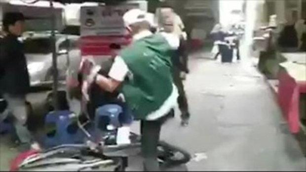รองผู้ว่าฯ เปิด คลิปชายหัวร้อน ตื้บรถไม่ยั้ง ฉุนถูกจับปรับขี่บนทางเท้า