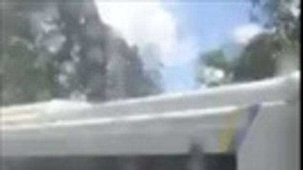 น่ากลัว! อุบัติเหตุรถโดยสารขาไปสกล ชนกับ18ล้อ