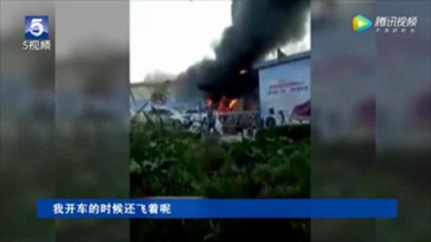 เผยคลิปสลด เครื่องบินเล็กชมวิว ตกชนกำแพงเมืองโบราณที่จีน ดับ 2