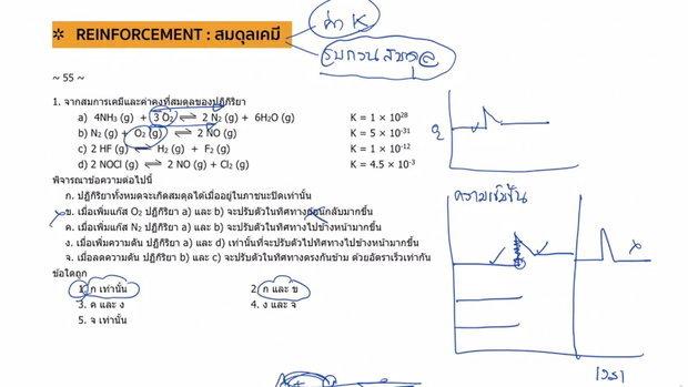 ตะลุยโจทย์ เคมี 9 วิชาสามัญ เรื่องสมดุลเคมี ปี 55-56 (Part1)