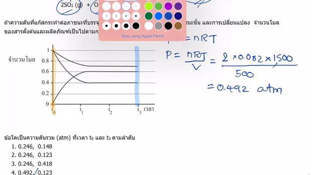 ตะลุยโจทย์ เคมี 9 วิชาสามัญ เรื่องสมดุลเคมี (Part3)