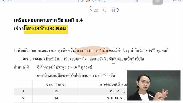 ติวสอบกลางภาค เคมี ม.4 : อะตอม Part 1