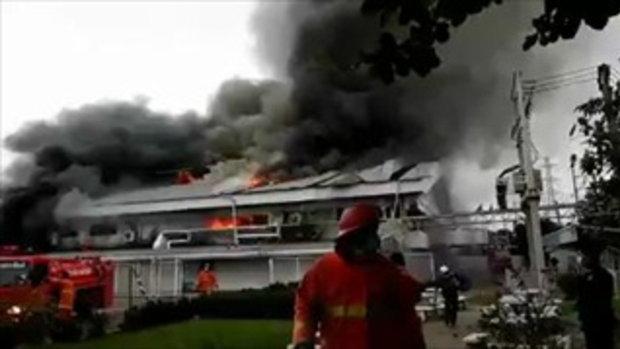 เหตุเพลิงไหม้โรงงานในเขตพื้นที่ จังหวัด ลำพูน