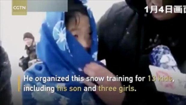 วิจารณ์สนั่น พ่อชาวจีนฝึกเด็กอย่างหนักกลางหิมะ