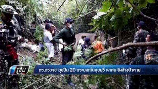 ตร.ตรวจอาวุธปืน 20 กระบอกในกุยบุรี หาคน ยิงช้างป่าตาย - เข้มข่าวค่ำ