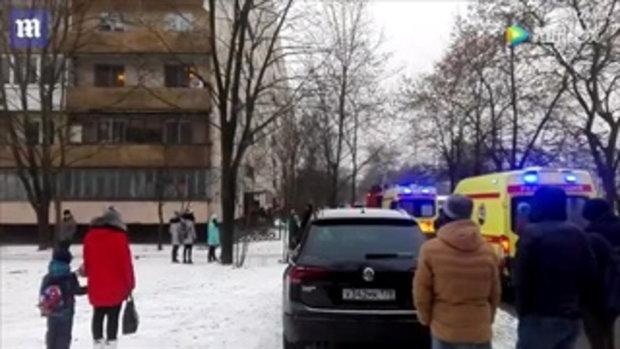 ระทึก แม่ชาวรัสเซียกอดลูกน้อยโดดจากชั้น 8 หนีตายตึกไฟไหม้