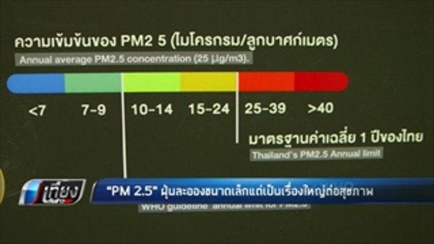 PM 2.5 ฝุ่นละอองขนาดเล็กแต่เป็นเรื่องใหญ่ต่อสุขภาพ - เที่ยงทันข่าว
