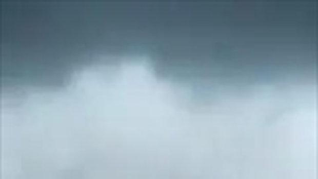 พายุหมุนในบ่อกุ้งที่ อ.ระโนด จ.สงขลา
