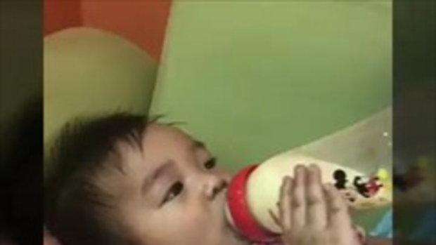 ลูกแพท ณปภา น้องเรซซิ่งนอนกินนมสบายใจเลย