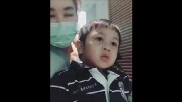 น่ารักมาก! น้องโปรด ดูแลไม่ห่าง แม่เป้ยป่วยเข้าโรงพยาบาล