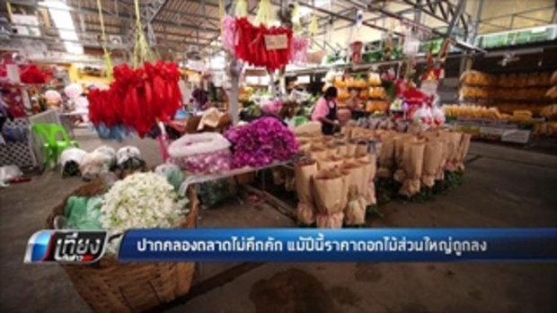 ปากคลองตลาดไม่คึกคัก แม้ปีนี้ราคาดอกไม้ส่วนใหญ่ถูกลง - เที่ยงทันข่าว