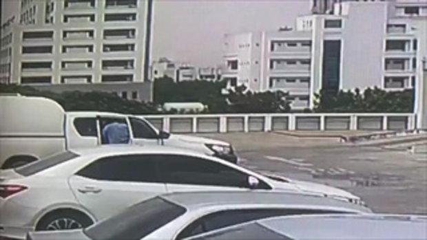 หนุ่มวัย 58 จอดรถ ตึกอย.เข้าเกียร์ถอยหลังค้างไว้ก่อนสตาร์ทรถ ตกชั้น 6 2/2
