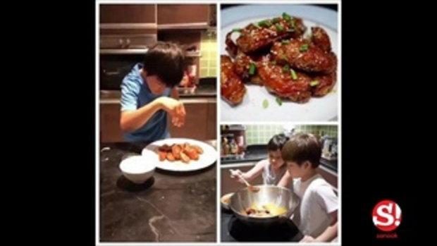 น้องแมค ลูกแหม่ม คัทลียา โชว์ฝีมือเข้าครัวทำไก่ทอด หน้าตาน่าทานสุดๆ