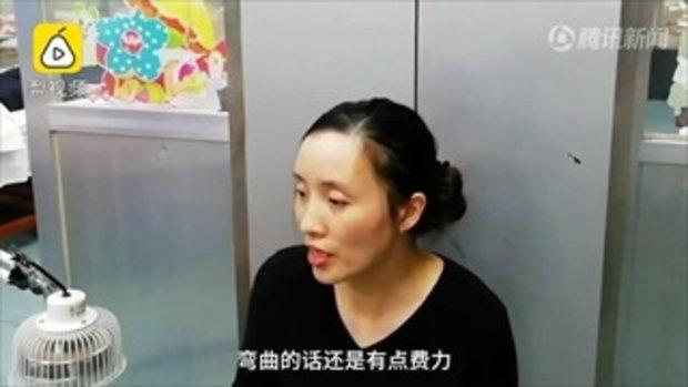 สาวจีนเล่นแต่มือถือตลอดลาพักร้อน 1 สัปดาห์ สุดท้ายนิ้วล็อก
