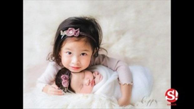 สองสาวน่าเอ็นดู น้องปริม-น้องปราง ลูกแม่เบนซ์ พ่อมิค ถ่ายแบบคู่กันครั้งแรก