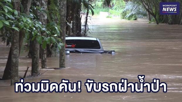 ท่วมมิดคัน! หนุ่มขับรถฝ่าน้ำป่า ถูกซัดติดต้นปาล์ม    | ข่าวเวิร์คพอยท์ | 10 ธ.ค. 61