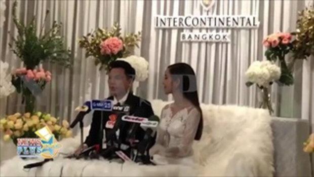 แต่งส่งท้ายปี ขนมจีน กุลมาศ จูงมือ เคน ขันธ์เพชร เข้าวิธีวิวาห์พร้อมจดทะเบียนสมรส